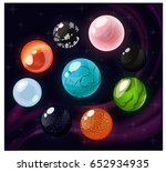 different gems set. onyx ... | Shutterstock .eps vector #652934935