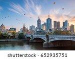 melbourne city skyline at... | Shutterstock . vector #652935751