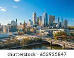 melbourne city skyline in... | Shutterstock . vector #652935847