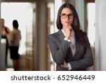 legal defense attorney  woman...   Shutterstock . vector #652946449