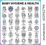 baby hygiene and health concept ...