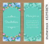 floral invitation or greeting... | Shutterstock .eps vector #652953874
