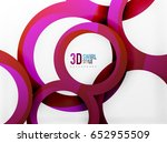vector 3d rings and swirls... | Shutterstock .eps vector #652955509