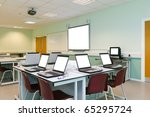 An It Classroom Laptops On The...