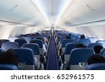 passengers traveling by a plane ... | Shutterstock . vector #652961575