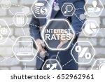 interest rates business... | Shutterstock . vector #652962961