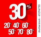sale percents. vector. | Shutterstock .eps vector #65296750