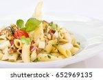 plate of italian vegetarian... | Shutterstock . vector #652969135