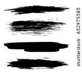 vector set of black brush... | Shutterstock .eps vector #652975585