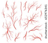human eye veins  arteries  red... | Shutterstock .eps vector #652976341