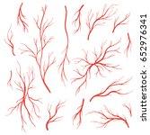 human eye veins  arteries  red... | Shutterstock .eps vector #652976341