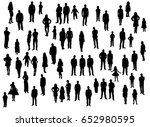 silhouette people men women... | Shutterstock . vector #652980595