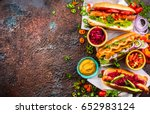 Variety Of Delicious Hot Dogs...