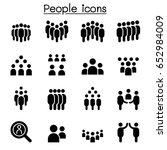 people icon set vector... | Shutterstock .eps vector #652984009
