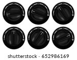 black switch round knob. car... | Shutterstock .eps vector #652986169