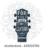 Vector Hand Drawn Guitar...