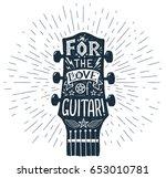 Vector Hand Drawn Guitar...