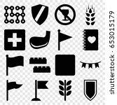 banner icons set. set of 16... | Shutterstock .eps vector #653015179