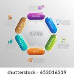 digital business information... | Shutterstock .eps vector #653016319
