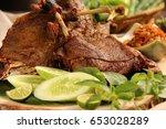 bebek goreng. popular... | Shutterstock . vector #653028289