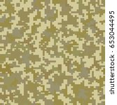 brown military camouflage.... | Shutterstock .eps vector #653044495