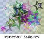 star template pattern | Shutterstock .eps vector #653056597