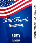 fourth of july. usa... | Shutterstock .eps vector #653062621