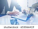 concept of digital diagram... | Shutterstock . vector #653066419