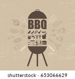 barbecue party invitation... | Shutterstock .eps vector #653066629