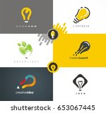 logo design solutions with... | Shutterstock .eps vector #653067445