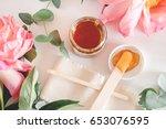 image of liquid sugar for hair... | Shutterstock . vector #653076595