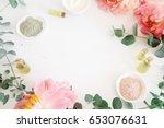 image of cosmetics ingredients. ... | Shutterstock . vector #653076631