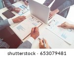 business people meeting for... | Shutterstock . vector #653079481