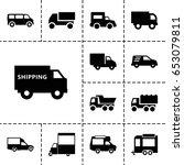 icons such as van  truck ...   Shutterstock .eps vector #653079811