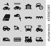 auto icons set. set of 16 auto... | Shutterstock .eps vector #653082385
