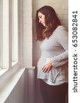 pregnant woman suffering from ... | Shutterstock . vector #653082841