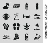 relax icons set. set of 16... | Shutterstock .eps vector #653087869