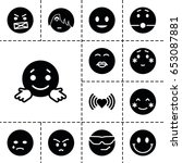 emotion icon. set of 13 filled... | Shutterstock .eps vector #653087881