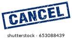 square grunge blue cancel stamp   Shutterstock .eps vector #653088439