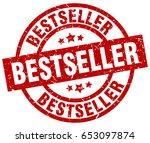 bestseller round red grunge... | Shutterstock .eps vector #653097874