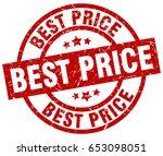 best price round red grunge... | Shutterstock .eps vector #653098051