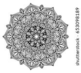 mandalas for coloring book.... | Shutterstock .eps vector #653098189