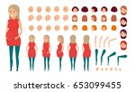 woman character creation set.... | Shutterstock .eps vector #653099455