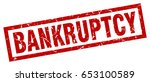 square grunge red bankruptcy... | Shutterstock .eps vector #653100589