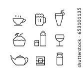 icon drink  vector | Shutterstock .eps vector #653101135