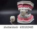 model cute toys teeth in... | Shutterstock . vector #653102485