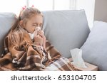 young teenager girl alone at... | Shutterstock . vector #653104705