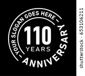 110 years anniversary logo... | Shutterstock .eps vector #653106211