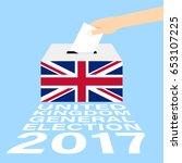 united kingdom  uk  general... | Shutterstock .eps vector #653107225