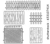 vector set of fence | Shutterstock .eps vector #653107414